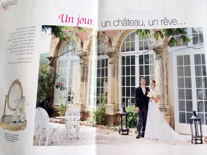 mariage chateau de robernier magazine mariage dition juin 2014. Black Bedroom Furniture Sets. Home Design Ideas