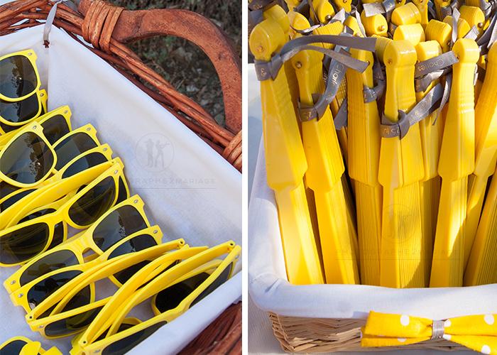 deco mariage jaune