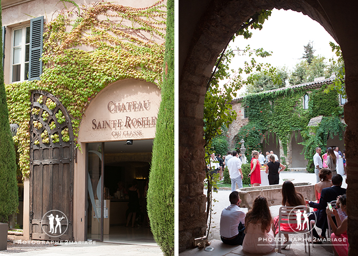 mariage sainte roseline chateau