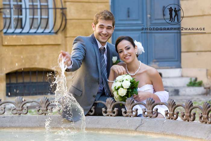 mariage aix en provence fontaines